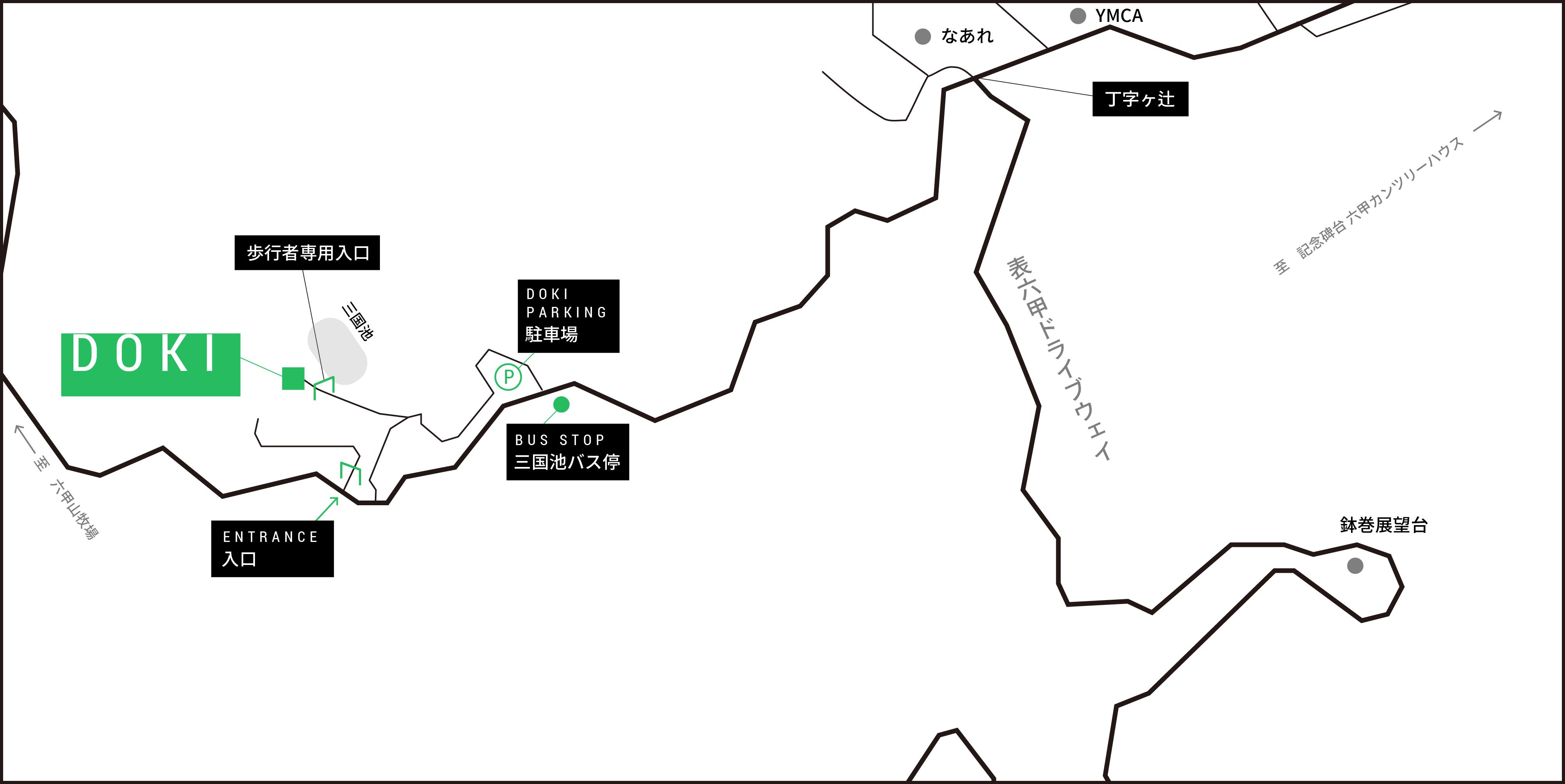 DOKIまでの道のり経路図